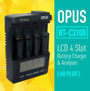 OPUS BT-C3100 V2.2 4 slot 18650 AA AAA NiMH Li-ioBattery Analyzer Tester Charger