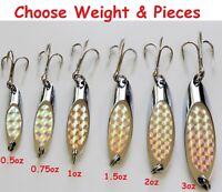 1/2oz 1oz 1.5oz 2oz 3oz Kast Spoons Chrome Silver Laser Casting Fishing Lures