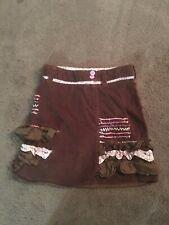 Deux Par Deux Girls Brown Fall Skirt Sz 7