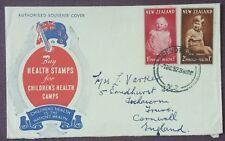 1952 New Zealand 2d & 1 1/2d Health Stamps On Official FDC, Devonport NZ Cancel