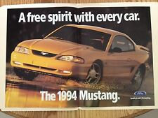 1994 Ford Mustang GT fold out magazine ad