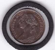 Sharp   1860   YH   Queen  Victoria   Farthing   Bronze  Coin