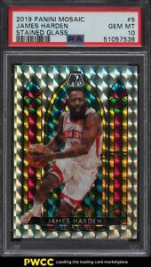 2019 Panini Mosaic Stained Glass James Harden #5 PSA 10 GEM MINT
