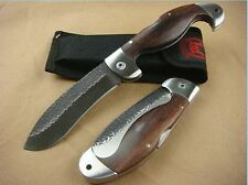 Super BODA Wood Handle Knife Tactical Saber Camping Rescue Sharp tool Gift New