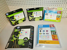 LOT OF 27 HP 02 MULTICOLOR INK CARTRIDGE/SEALED/Genuine(5 COMBO-PACKS) Expired!