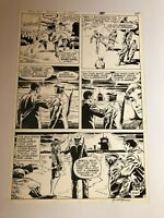 MEN OF WAR #19 original art GRAVEDIGGER 1979 AYERS SIGNED TANGHAL LAST PAGE