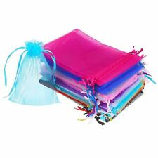 50 Pieces 4 by 6 Inch Organza Gift Bags Drawstring Jewelry Pouches Wedding V4F2