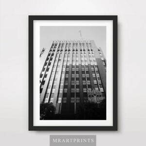 ARCHITECTURE New York Manhattan 20x30 30x40 40x50 cm ART PRINT Poster Black size
