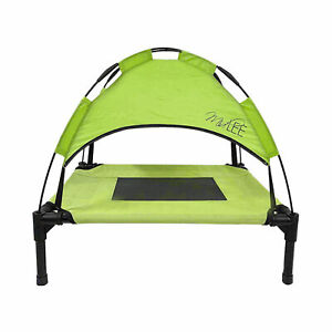 Midlee Green Dog Cot with Canopy