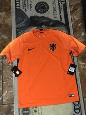 🔥NWT NIKE NETHERLANDS NATIONAL TEAM 2018 HOME JERSEY MENS Medium 893882 ORANGE