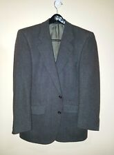 Burberry VTG for Wallachs Sage Herringbone Tweed Wool 2 Button Blazer Sz. 42 R