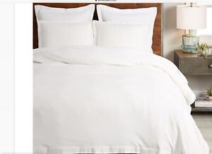 Pottery Barn Natural White Ultra Soft Tencel Cotton Queen Duvet Cover