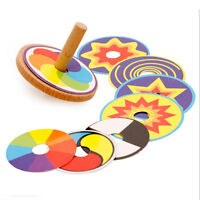 Wooden Classic Spinning Top Gyro Children Kids Developmental Gifts  NT