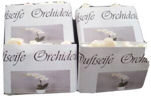 Naturseife Orchideen Duft  10  STÜCK handgemacht  mit Milch 800 g mit Sheabutter