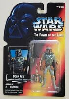 STAR WARS POWER OF THE FORCE BOBA FETT WITH SAWED OFF BLASTER RIFLE & JET PACK
