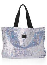 Victoria's Secret PINK Rainbow Sequin Bling Tote XL Bag NWT RARE