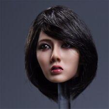 YMTOYS 1:6 Asia Female Short Black Hair Head Sculpt Xiu Girl Head Model
