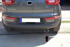 Chrom Auspuffblende Hyundai IX35 extra groß  OVAL aus EDELSTAHL
