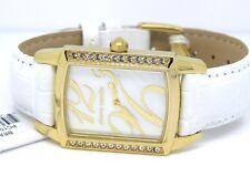 Pierre Cardin Mujer De Oro Beaute Reloj PC104182F02 Cristal Cuero Blanco