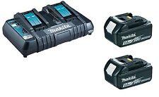 Makita Ensemble de batterie chargeur DC18RD avec 2 x BL1850B d'origine neuf