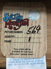 WALT DISNEY WORLD SPLASH MOUNTAIN PHOTO TICKET & RECEIPT 1998 RARE MINT CONDITIO