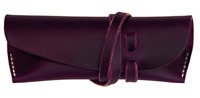Eyeglasses Case sunglasses bag Pouch spectacle holder cow Leather purple z733
