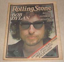 1/26 1978 ROLLING STONE NEWSPAPER #257 BOB DYLAN INTERVIEW STEVEN SPIELBERG