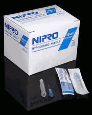 """Needle Nipro 25G x 5/8"""" (.45 x 16mm) Hypodermic Sterile Syringe Needles Box /100"""