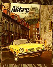 PONTIAC ASTRE 1974 brochure catalog - French - Canadian Market