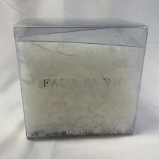 Pottery Barn Faux Snow 5.5 oz 155 Grams Vase Filler or Scene Christmas Holiday