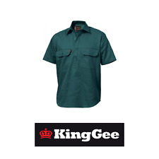 King Gee KingGee Sleeve Closed Front Cotton Drill Shirt K04060