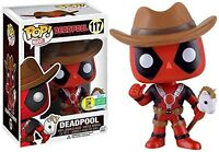 Deadpool Cowboy Bobble Head Summer Exclusive POP! Marvel #117 Vinyl Figur Funko