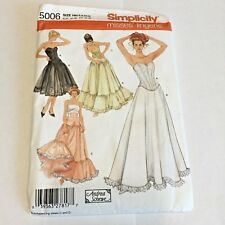 Simplicity Lingerie Corset Petticoat Pattern 5006 Cosplay Steampunk Size 6 - 12