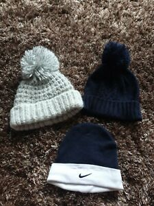 BABY BOYS BOBBLE HAT X2 ONE NIKE BABY HAT 0/3 MONTHS