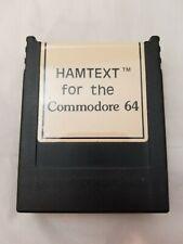 Vintage HAMTEXT Cartridge for Commodore 64 For Ham Radio Operators