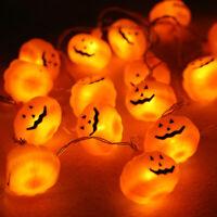 20 LED Pumpkin String Fairy Lights Lantern Party Home Props Halloween Decoration