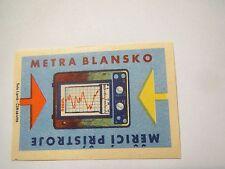 Metra Blansko - Merici Pristroje - Tschechien - Messgerät / Streichholzetikett