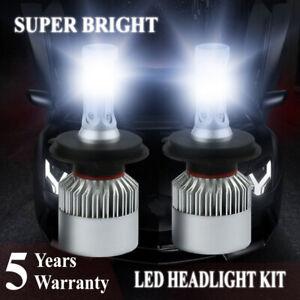 H4 9003 HB2 2800W 420000LM LED Headlight Bulbs COB kit 6000K White Lamps Light