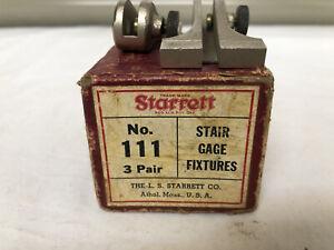 """Starrett"" No.111 Stair Gage Fixtures w/Box"