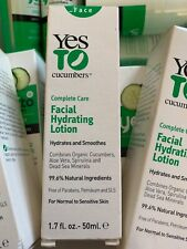 Set Of 3 Yes To Cucumbers Facial Hydrating Lotion New Boxed 1.7oz 50 Ml Each