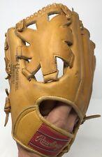 Vintage Rawlings Softball Glove DW12 Big Wheel Hinged Pad Deep Well Pocket