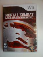 Mortal Kombat: Armageddon Game in Case! Nintendo Wii
