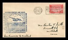 US COVER FIRST FLIGHT FAM 19 SAN FRANCISCO TO AUCKLAND AIR MAIL SLOGAN CANCEL