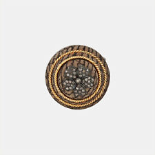 Yellow Gold Designer Ring Vintage Jewelry Diamond Pave 925 Sterling Silver 14K