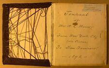 1892 WOMAN'S STEAMSHIP JOURNAL AUTOGRAPH BOOK BERKELEY & SAN FRANCISCO CA PANAMA