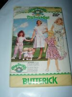 GIRLS UNCUT BUTTERICK 4889 Sewing Pattern CABBAGE PATCH CLOTHES DRESS SIZE 12 14