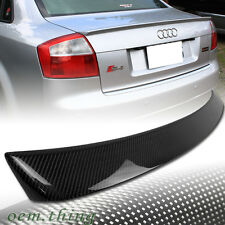 CARBON FIBER FOR AUDI A4 B6 QUATTRO SALOON A TYPE TRUNK BOOT SPOILER 2005