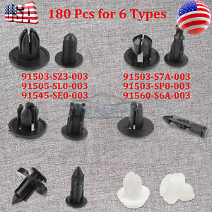 Front Rear Bumper Screw Type Retainer Clips Compatible with Honda 91503-SP0-003