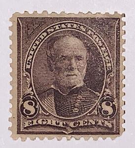 Travelstamps: 1894 US Stamps Scott #257 8c Mint Og Hinged,violet brown Sherman