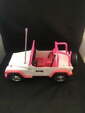 Vintage Remote Control Kids Toy 1997 Meritus Pink White Wheels Car Jeep Wrangler